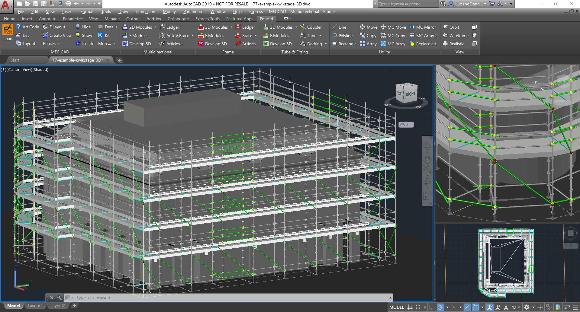 Scaffolding designer software to design estimate for Mobel cad programm