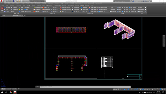For Cad formworks software layout
