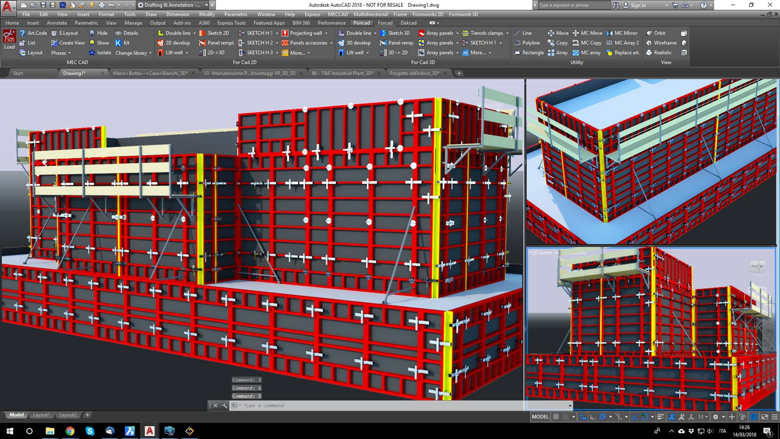 FOR CAD 2D/3D Freeware Formwork designer software