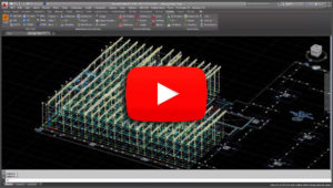 PONCAD industrial scaffolding software building project in Autocad