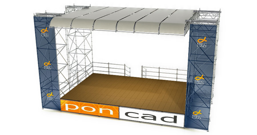 Renderig of Stage with PONCAD