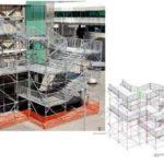staircase scaffolding design PON CAD
