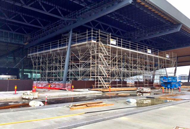 scaffolding airport Terminal bergen