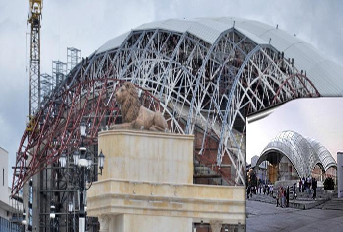 scaffolding macedonian philharmonic