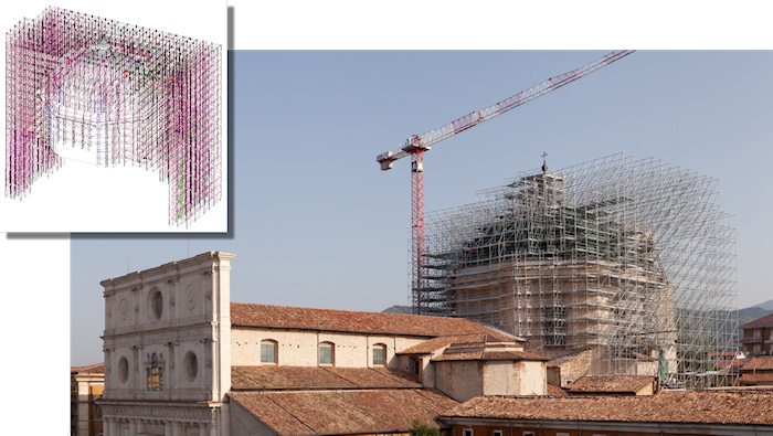 DWG scaffolding drawing scaffolding restoration dome Italy