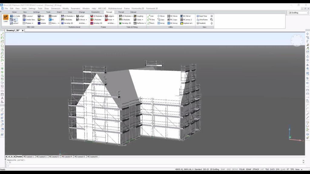 PON CAD HAKI scaffolding