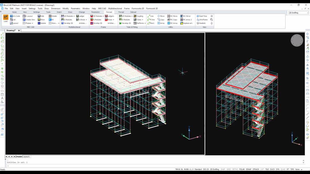 Maintenance Scaffolding CAD 3D