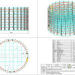 industrial maintenance circular scaffold 3d